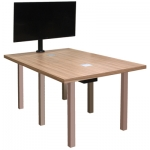 CTR 36x60 Rectangular Video Conference Table in Mazagran Plastic Laminate - Side View