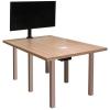 CTR 36x60 Rectangular Table in Mazagran Plastic Laminate - Side View