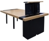 CTR 48x96 Rectangular Table in Apple Ply and Black Laminate - Back Open View