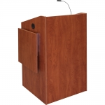 ELCO™-25 System Lectern in Wild Cherry Melamine - Front View