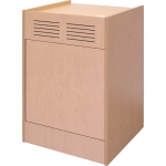 ELCO™-25WS Workstation in Maple Melamine - Back View