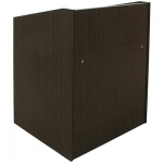 ELCO™-35 System Lectern in Asian Night Melamine- Front View