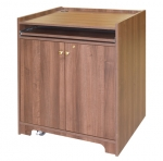 ELCO™-35WS Workstation in Walnut Melamine - Front View