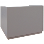 ELCO™-ADA-40 Desk in Silver Frost Melamine - Front View - Lowered Position