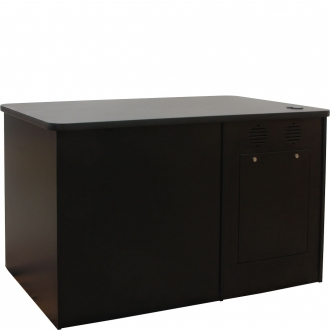 ELCO™-DSK-56 Desk in Black Melamine - Front View