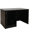 ELCO™-DSK-56 Desk in Black Melamine - Back Open View