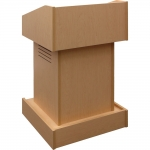 ELCO™-T25 Traditional Style System Lectern in Maple Melamine - Front View