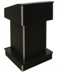ELCO™-T25RC Traditional Style System Lectern in Black Melamine - Front View