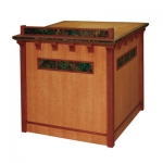 MAC-25/30 Arts & Crafts Style Lectern in Quarter Sawn White Oak - Front View