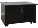 MC-48P 2 Bay Rack Credenza in Black Oak - Front View