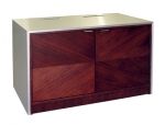 MC-48P 2 Bay Rack Credenza in Custom Walnut - Front VIew