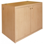 MC-48P 2 Bay Rack Credenza in Scandia Maple Plastic Laminate - Front View