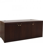 MC-72P Prairie Style 3 Bay Rack Credenza in Classic Walnut - Front View