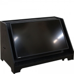 MCMC-44P Custom Stage Confidence Monitor Cabinet in Black Oak - Front View