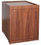 MEQ-33P Prairie Style Rack Cabinet in Honey Walnut - Front View