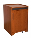 MEQ-40P Prairie Style Rack Cabinet in Custom Cherry - Front View