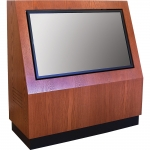MKCS-50 Classic Style Kiosk in Harvest Oak - Front View