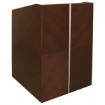 MLCS-30 Classic Style Lectern in Custom Walnut - Front View
