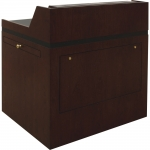 MLCS-36 Classic Style Lectern in Classic Cherry - Front View