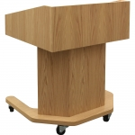 MLHEX-30 Hexagon Style Lectern in Light Oak - Front View