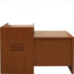 MLP-25 Prairie Style Lectern with Side Desk in Legacy Cherry Plastic Laminate - Front View