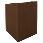 MLP-32 Prairie Style Lectern in Cherry Riftwood Laminate - Front View