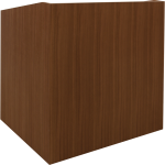 MLP-40 Prairie Style Lectern in Custom Quartered Plain, Slip-Matched FSC Eucalyptus - Front View