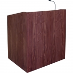 MLP-40 Prairie Style Lectern with Height Adjust in Custom Walnut - Front View