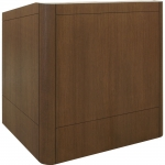 MLR-40 Radius Style Lectern in Custom Rift Red Oak - Front View