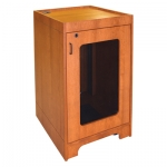 MRCS-42P Prairie Style One-Bay Mobile Cabinet in Harvest Cherry - Front View