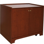 MRCD-42P Prairie Style Two-Bay Mobile Cabinet in Custom Cherry - Front View