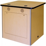 MRTA™-RCWS-34M Workstation in Maple Melamine - Front View