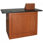 MWSP-40 Prairie Style Workstation in Harvest Cherry - Front View
