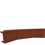 OCCT 48x222 Telepresence Table in Harvest Cherry - Front View
