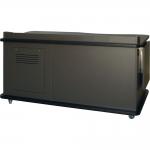 SCM™-640 ADA Desk in Slate Grey Melamine - Front View