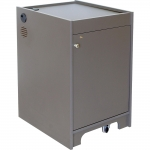ELCO™-16RU Mobile Rack Cabinet in Slate Grey Melamine - Front View