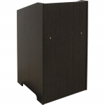 ELCO™-25 System Lectern in Asian Night Melamine - Front View