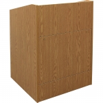 ELCO™-32 System Lectern in Oak Melamine - Front View