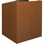 ELCO™-35 System Lectern in Asian Sun Melamine - Front View
