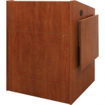 ELCO™-35 System Lectern in Wild Cherry Melamine - Front View