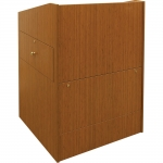 ELCO™-35DC System Lectern with Document Camera Drawer in Asian Sun Melamine - Front View