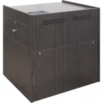 ELCO™-35WSDC Workstation in Asian Night Melamine - Front View