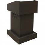 ELCO™-T25 Traditional Style System Lectern in Slate Grey Melamine - Front View