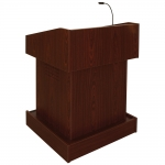 ELCO™-T32 Traditional Style System Lectern in Mahogany Melamine - Front View