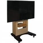 ELCO-VS Mobile Vertical Stand in Maple Melamine - Front View