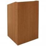 EXEC™-25FD System Lectern in Natural Cherry - Front View