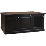 MC-72RP Prairie Style 3 Bay Rack Credenza in Black Cherry - Front View