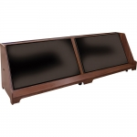 MCMC-104P Custom Stage Confidence Monitor Cabinet in Custom Walnut - Front View