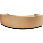 MDCV-102 Curved Style Custom Presentation Desk in Fusion Maple Laminate - Front View
