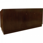 MDP-93 Prairie Style Desk in Cocobala Laminate - Front View
